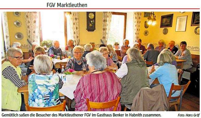 Fröhliches Treffen des FGV in Habnith