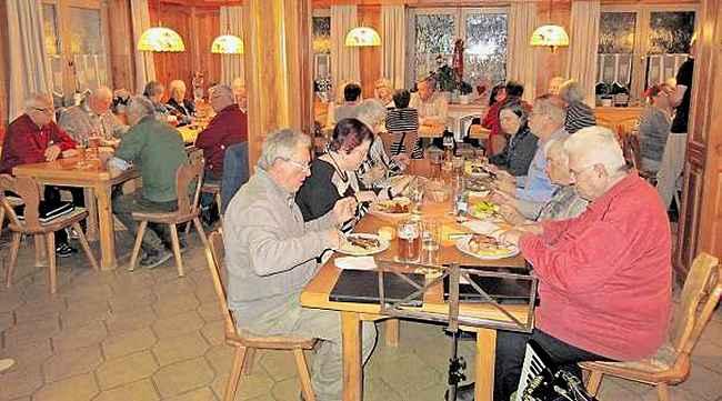 Hüttenabend im Gasthaus Rupprecht in Oberthölau